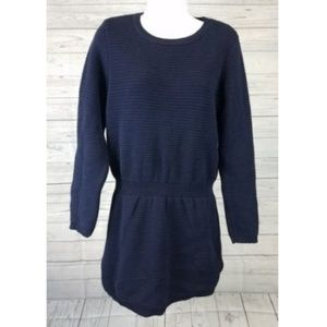 ASOS Sweater Dress Sz 6 Blue Long Sleeve